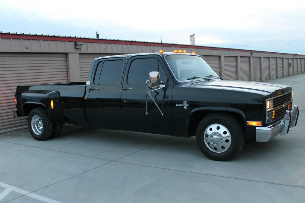 All Blacked Out 1984 Chevrolet C30 Silverado Crew Cab