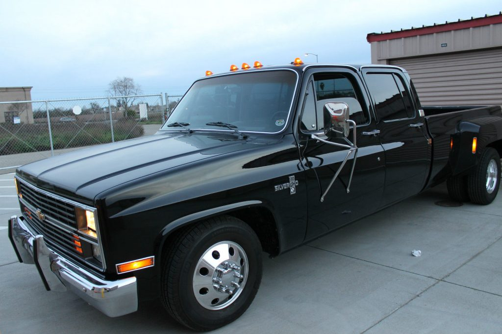 New Chevy Trucks >> All blacked out 1984 Chevrolet C30 Silverado Crew Cab Pickup Dually (Unrestored!) for sale
