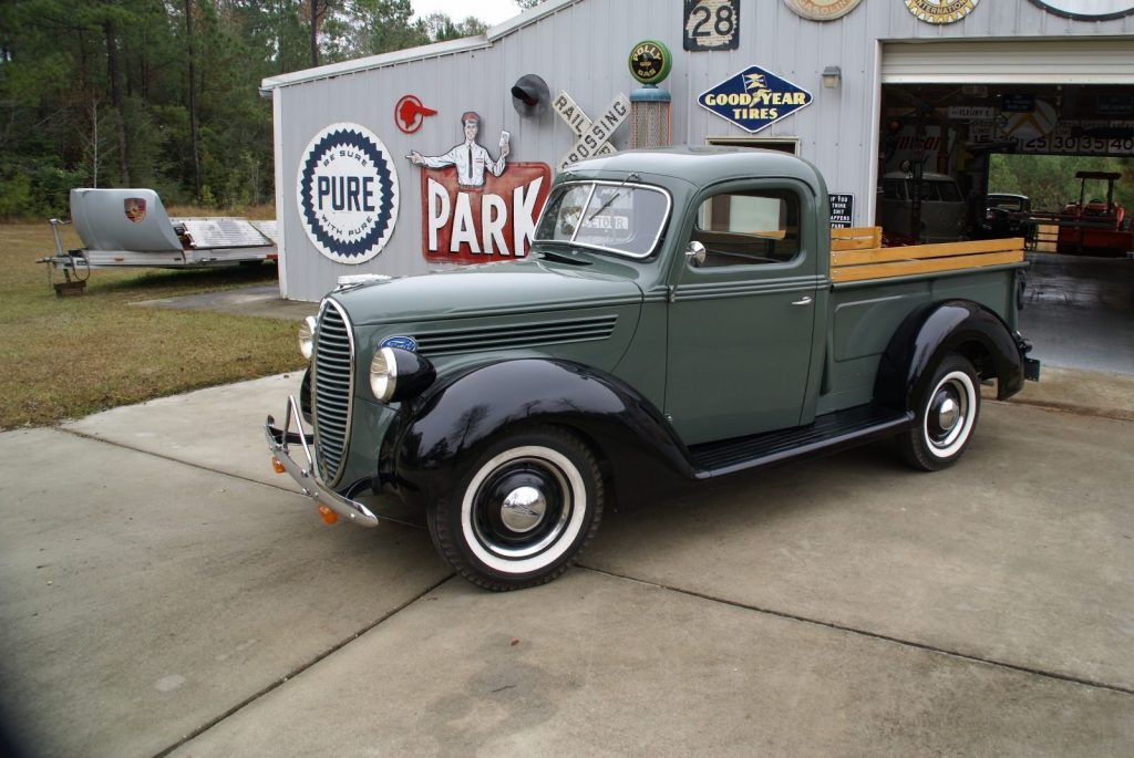 Collectible Vintage 1938 Ford Stepside Pickup Truck In