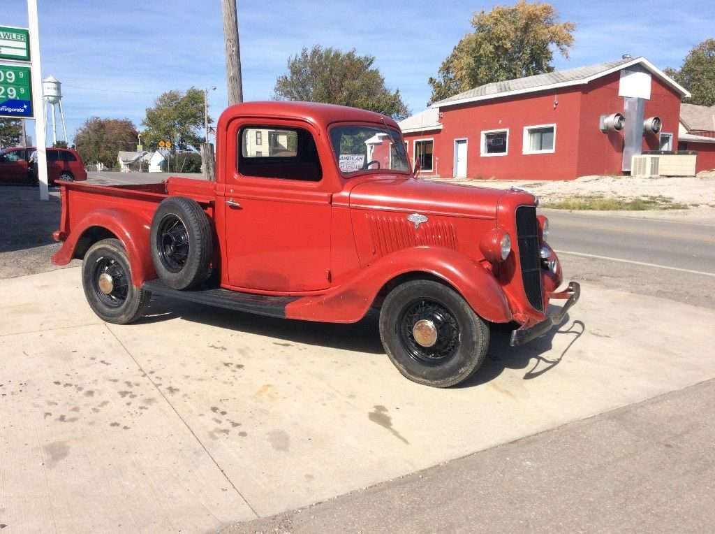 Vintage Red 1935 Ford F 100 Pickup Truck For Sale