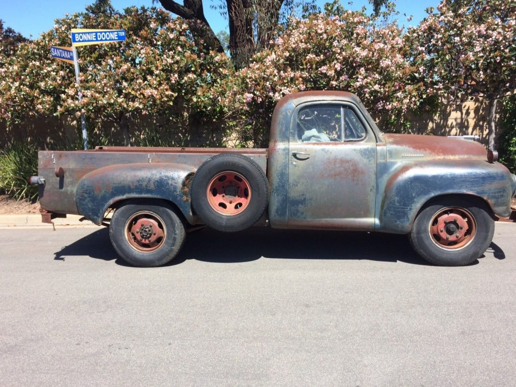 well preserved 1949 studebaker 2r10 3 4 ton long bed with. Black Bedroom Furniture Sets. Home Design Ideas