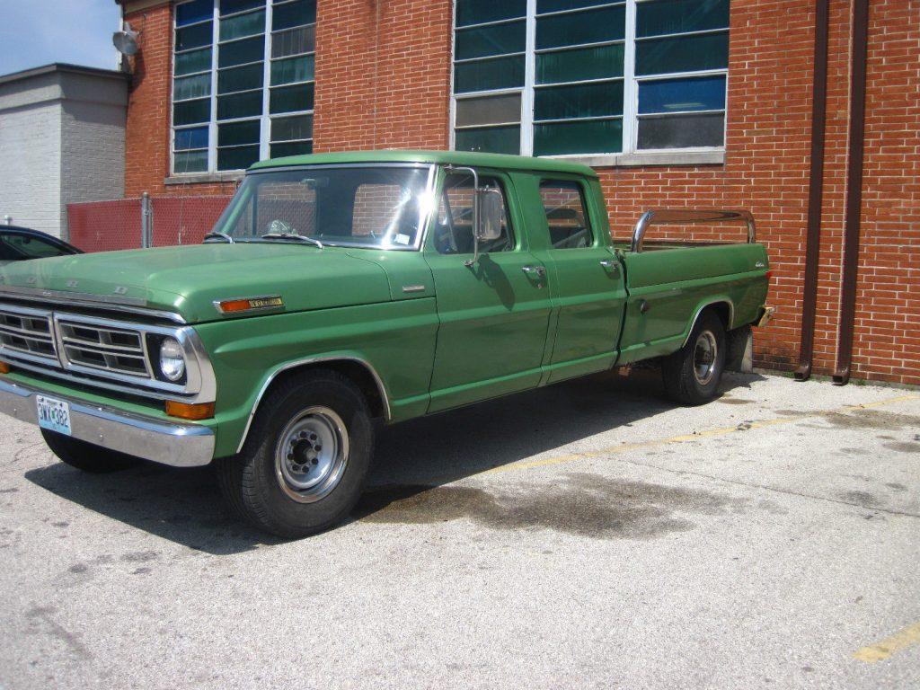 always garaged 1972 ford f 350 crew cab for sale. Black Bedroom Furniture Sets. Home Design Ideas