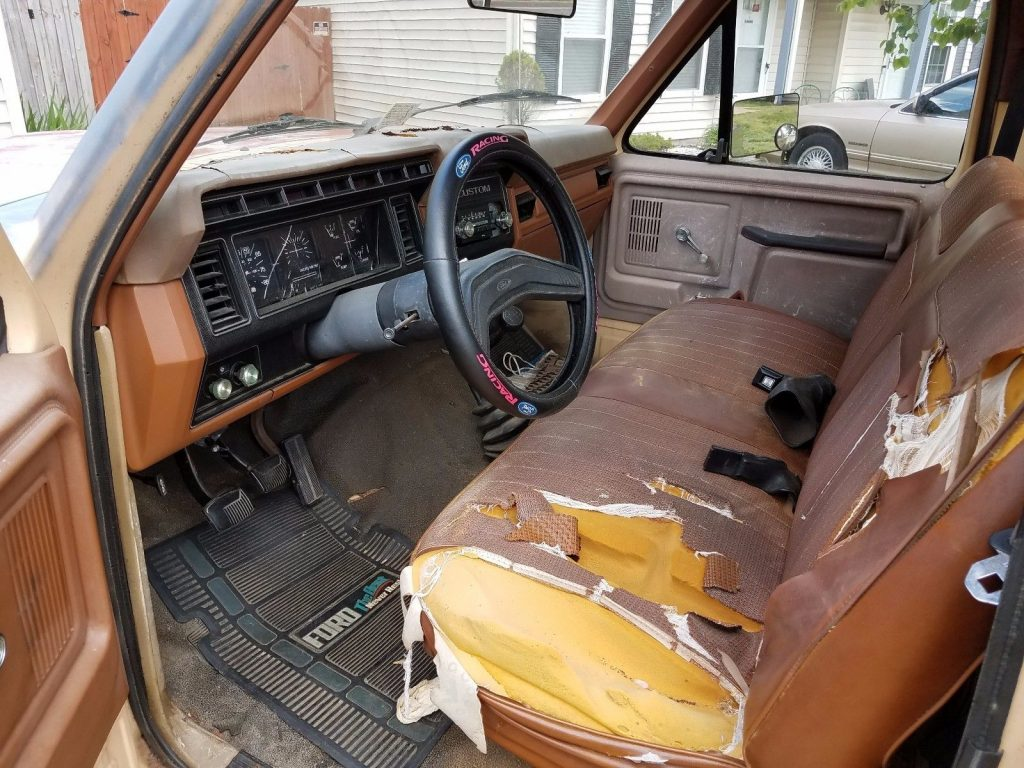 Little rust 1981 Ford F 100 Custom vintage pickup