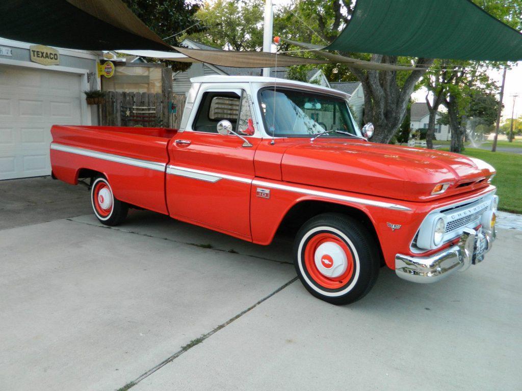 restored 1966 chevrolet c 10 standard vintage truck for sale. Black Bedroom Furniture Sets. Home Design Ideas
