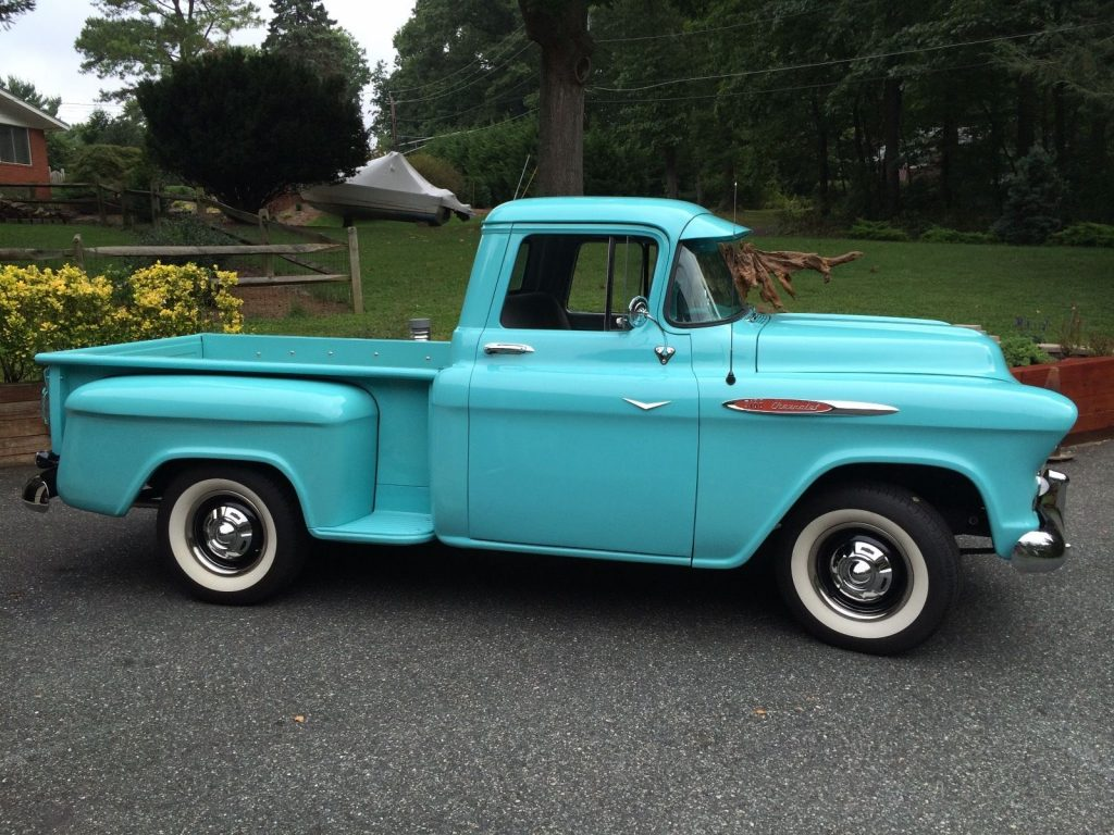1957 chevrolet pickups 3100 short bed vintage truck for sale. Black Bedroom Furniture Sets. Home Design Ideas