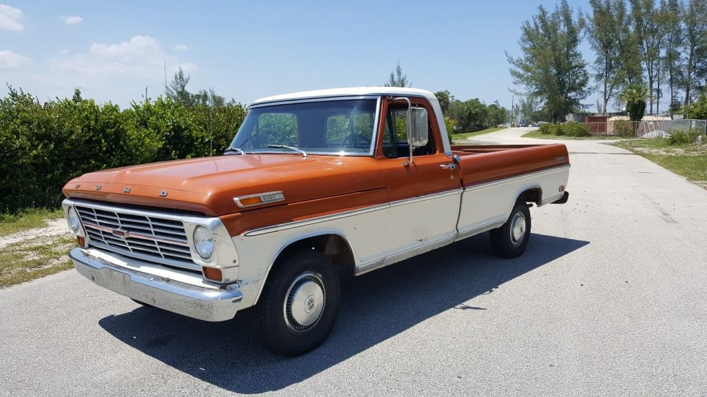 extremely original 1969 ford f 100 vintage truck for sale. Black Bedroom Furniture Sets. Home Design Ideas