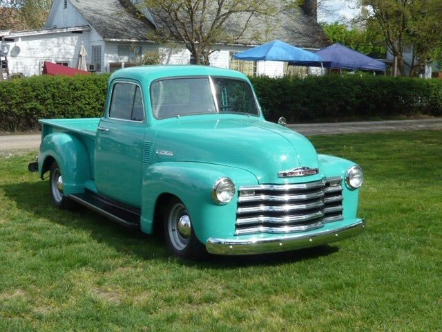 Green mint 1953 Chevrolet Pickups 5 Window vintage
