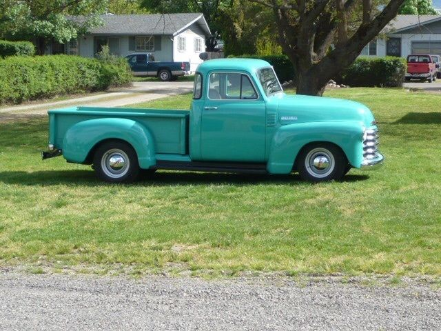 Green mint 1953 Chevrolet Pickups 5 Window vintage