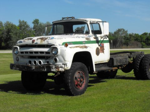 Lincoln engine 1957 Ford F 800 Cab and Chassis vintage truck for sale