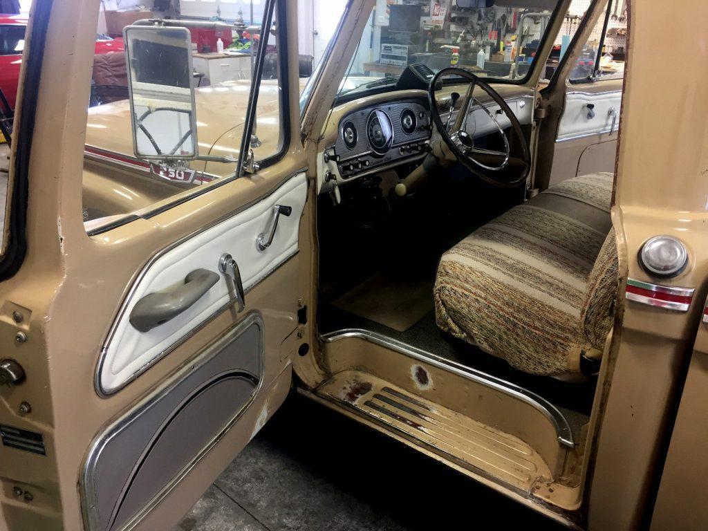 Original Clean 1964 Ford F 250 Custom Cab Vintage For Sale Truck