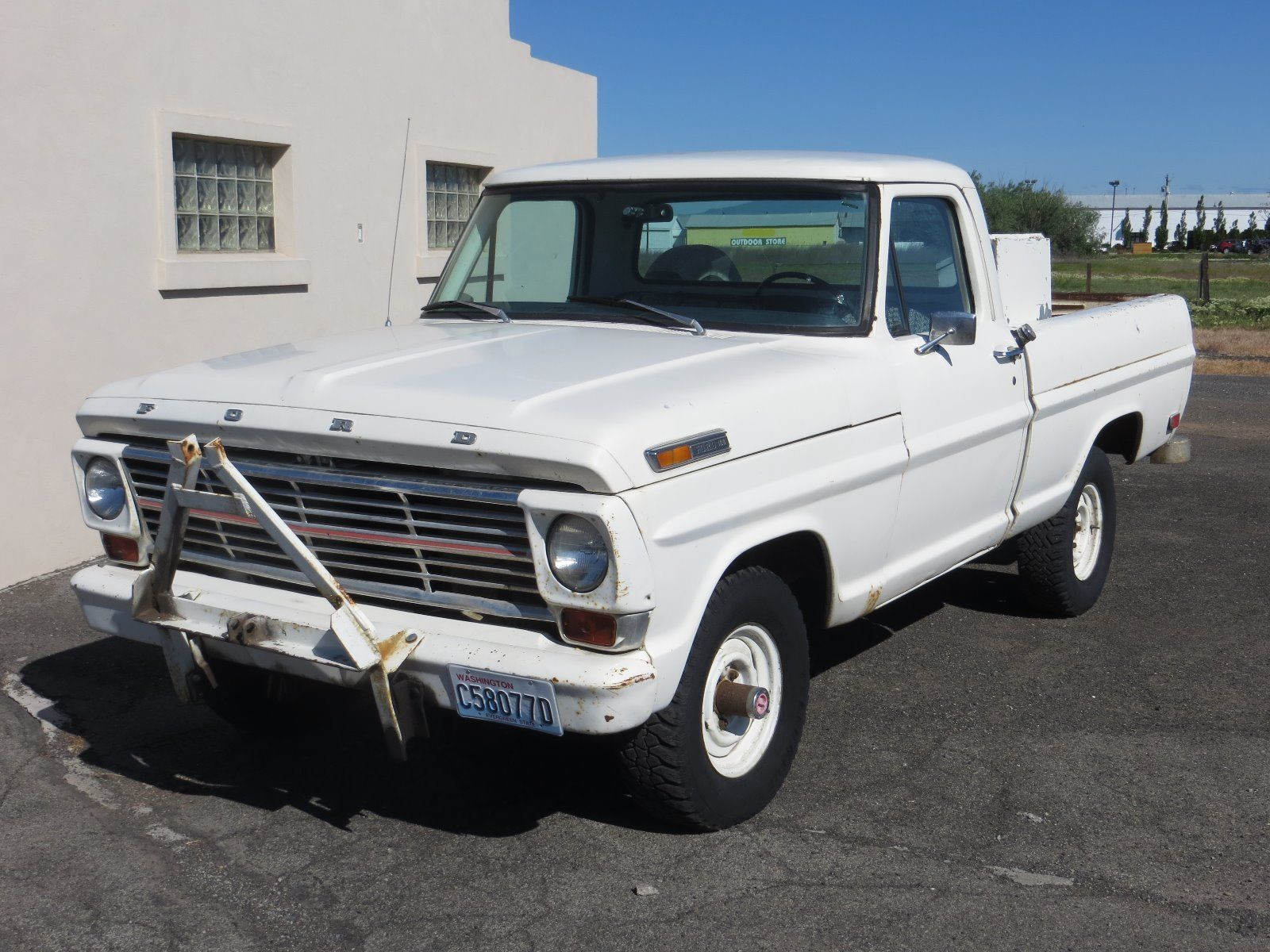 snow plow 1968 ford f 100 vintage truck for sale. Black Bedroom Furniture Sets. Home Design Ideas