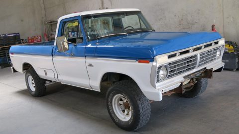 Upgraded engine 1976 Ford F 150 Custom Factory vintage for sale