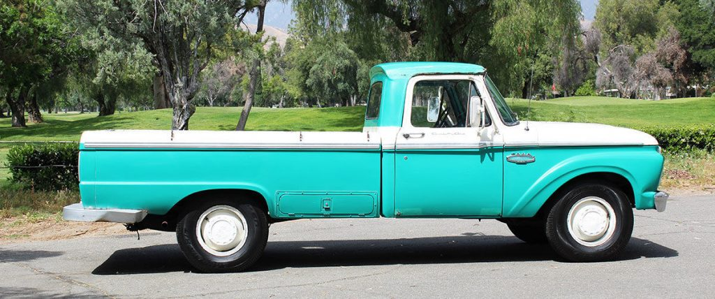 Vintage classic 1965 Ford F 250 California Custom Cab/camper Special