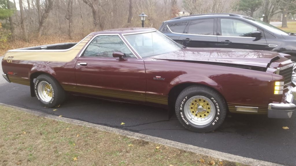 New paint 1979 Ford Ranchero GT vintage