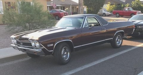 Four on the floor 1968 Chevrolet El Camino vintage for sale
