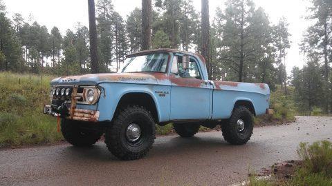 nice patina 1968 Dodge Power Wagon W100 Fleetside Short Bed vintage for sale
