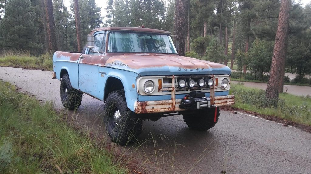 nice patina 1968 Dodge Power Wagon W100 Fleetside Short Bed vintage
