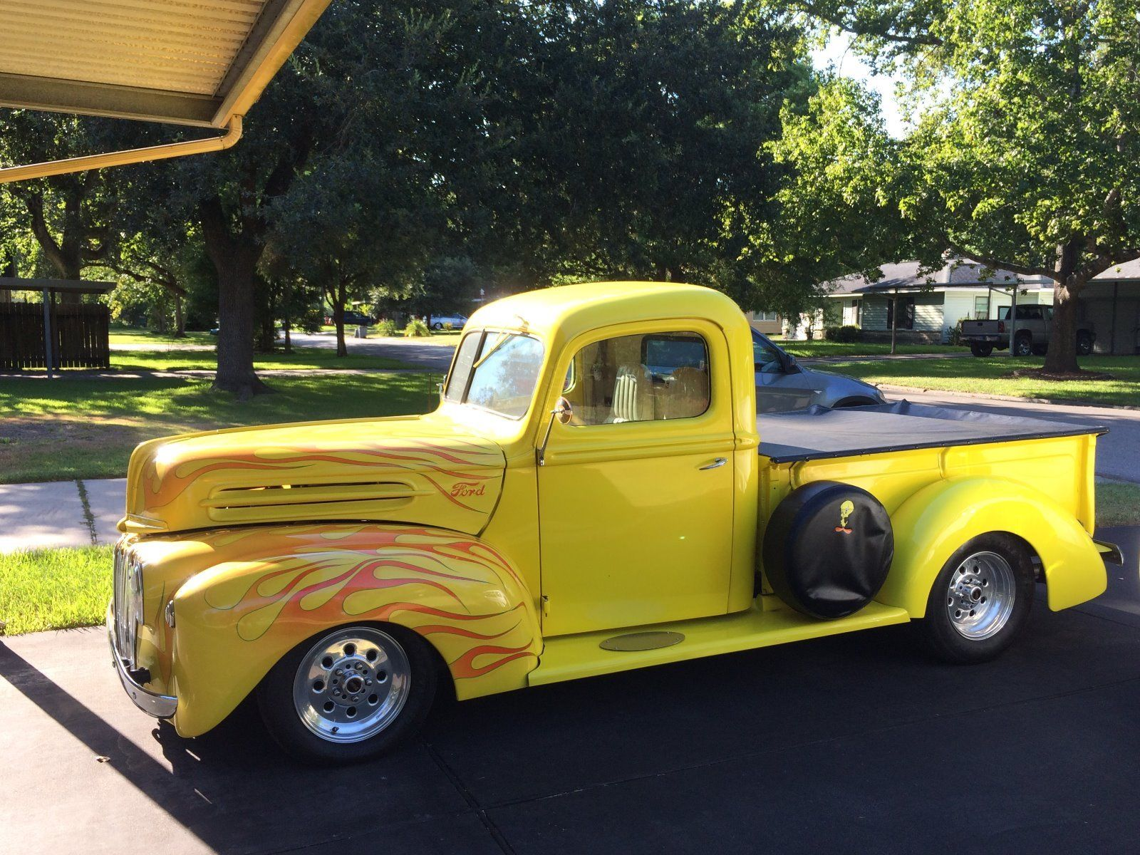 nicely modified 1946 ford f 100 custom truck for sale. Black Bedroom Furniture Sets. Home Design Ideas