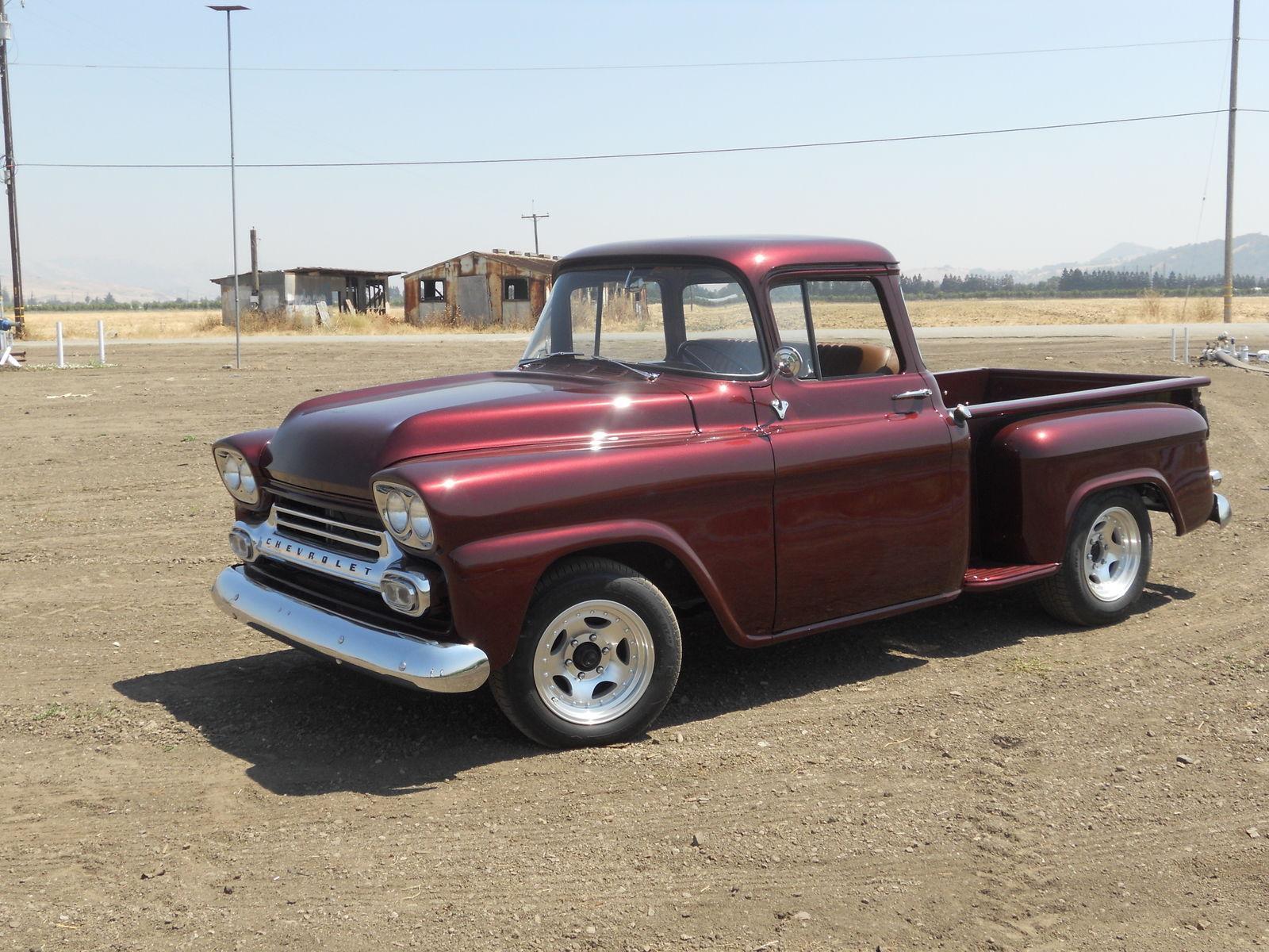 clean 1958 chevrolet pickups 3100 big window vintage for sale. Black Bedroom Furniture Sets. Home Design Ideas