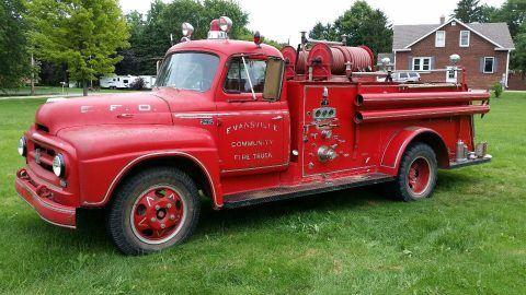 Fire truck 1955 International Harvester vintage truck for sale