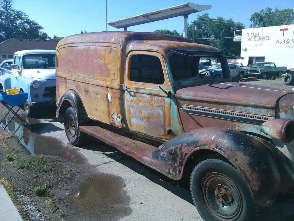 missing engine 1937 dodge pickups vintage truck for sale. Black Bedroom Furniture Sets. Home Design Ideas