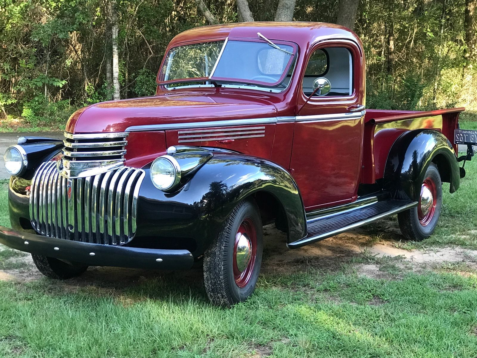 restored 1946 chevrolet pickup vintage for sale. Black Bedroom Furniture Sets. Home Design Ideas