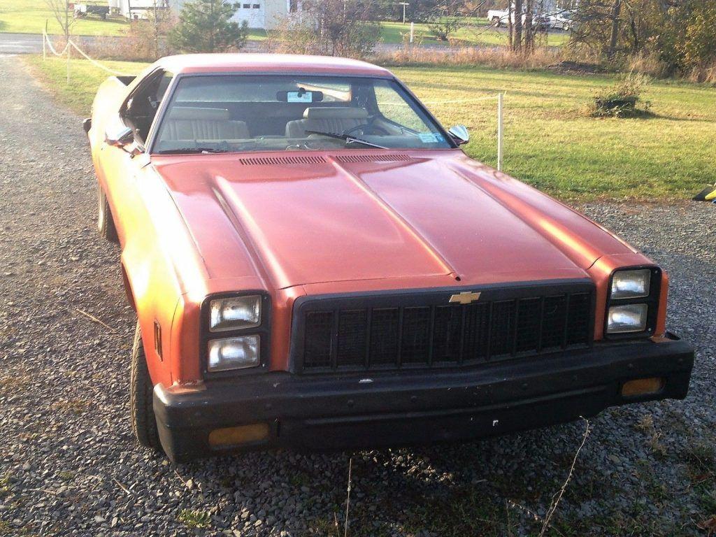 partly restored 1973 Chevrolet El Camino vintage
