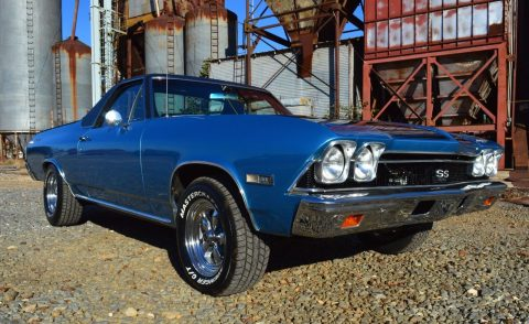 restored 1968 Chevrolet El Camino 396 SS vintage truck for sale