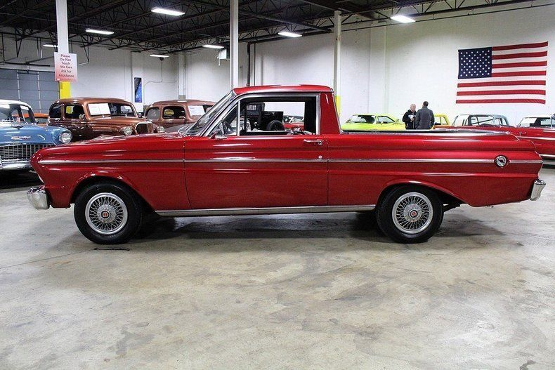 older repaint 1965 Ford Falcon Ranchero vintage pickup
