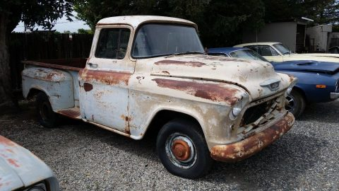 barn stored 1955 Chevrolet Apache vintage truck for sale