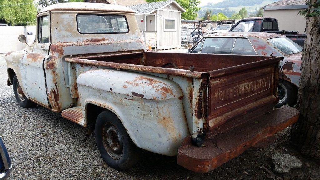 barn stored 1955 Chevrolet Apache vintage truck for sale