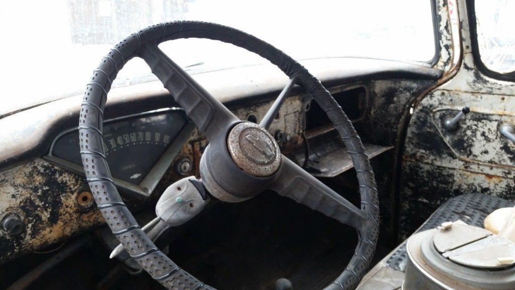 barn stored 1955 Chevrolet Apache vintage truck