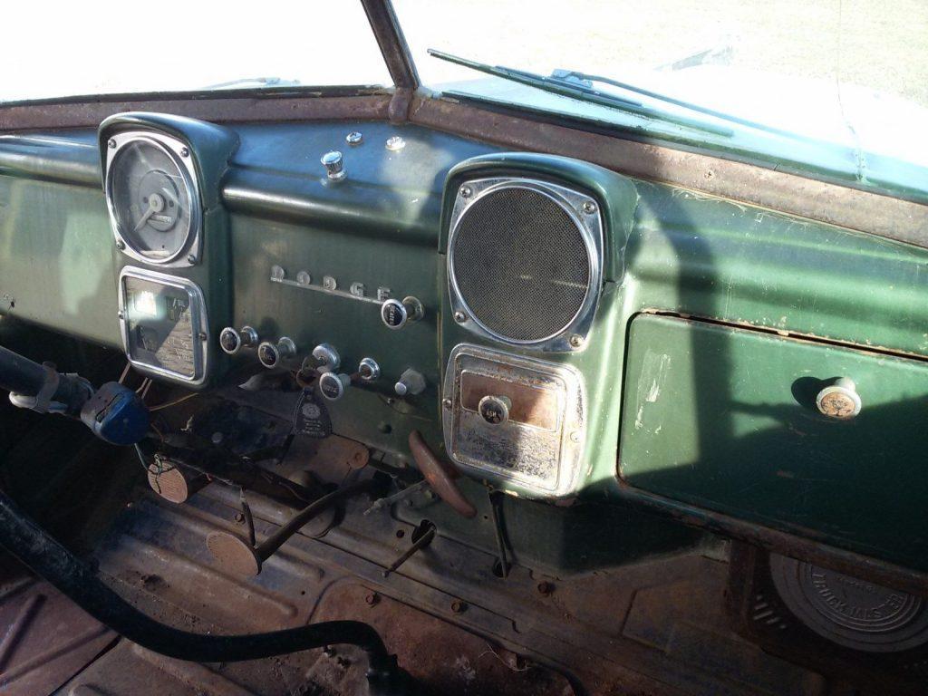 farm find 1953 Dodge 5 Window pickup vintage