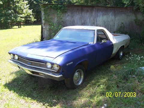 needs restoration 1969 Chevrolet El Camino vintage for sale