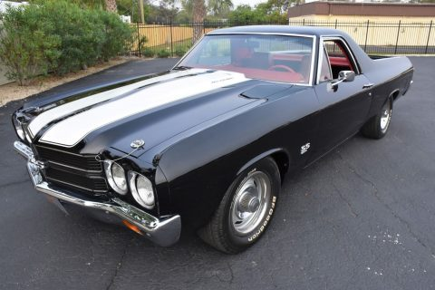 restored 1970 Chevrolet El Camino SS 396 C.I. V8 Buckets and Console vintage for sale