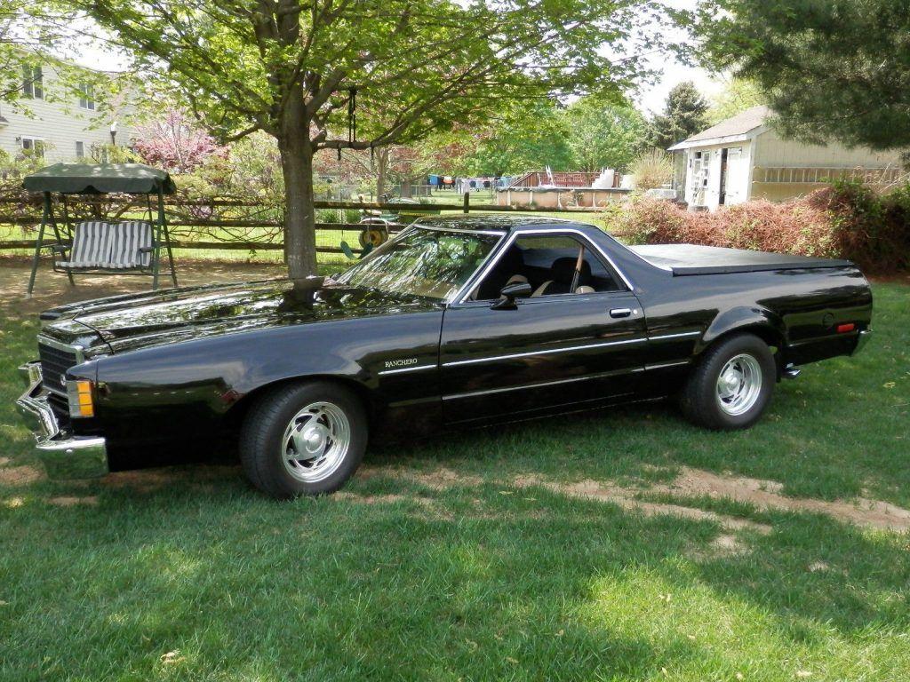 garage kept 1979 Ford Ranchero GT vintage truck