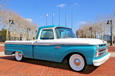 restomod 1965 Ford F 100 Bagged vintage truck for sale