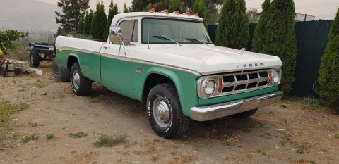 recent paint 1969 Fargo Dodge Pickup Camper Special vintage truck for sale