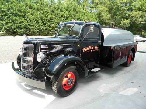amazing 1948 Mack EF oil truck vintage for sale