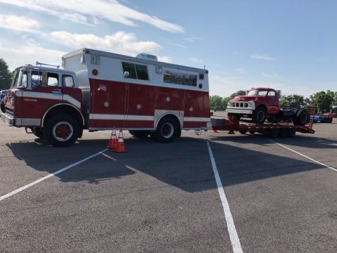 converted 1976 Ford C800 fire truck vintage for sale