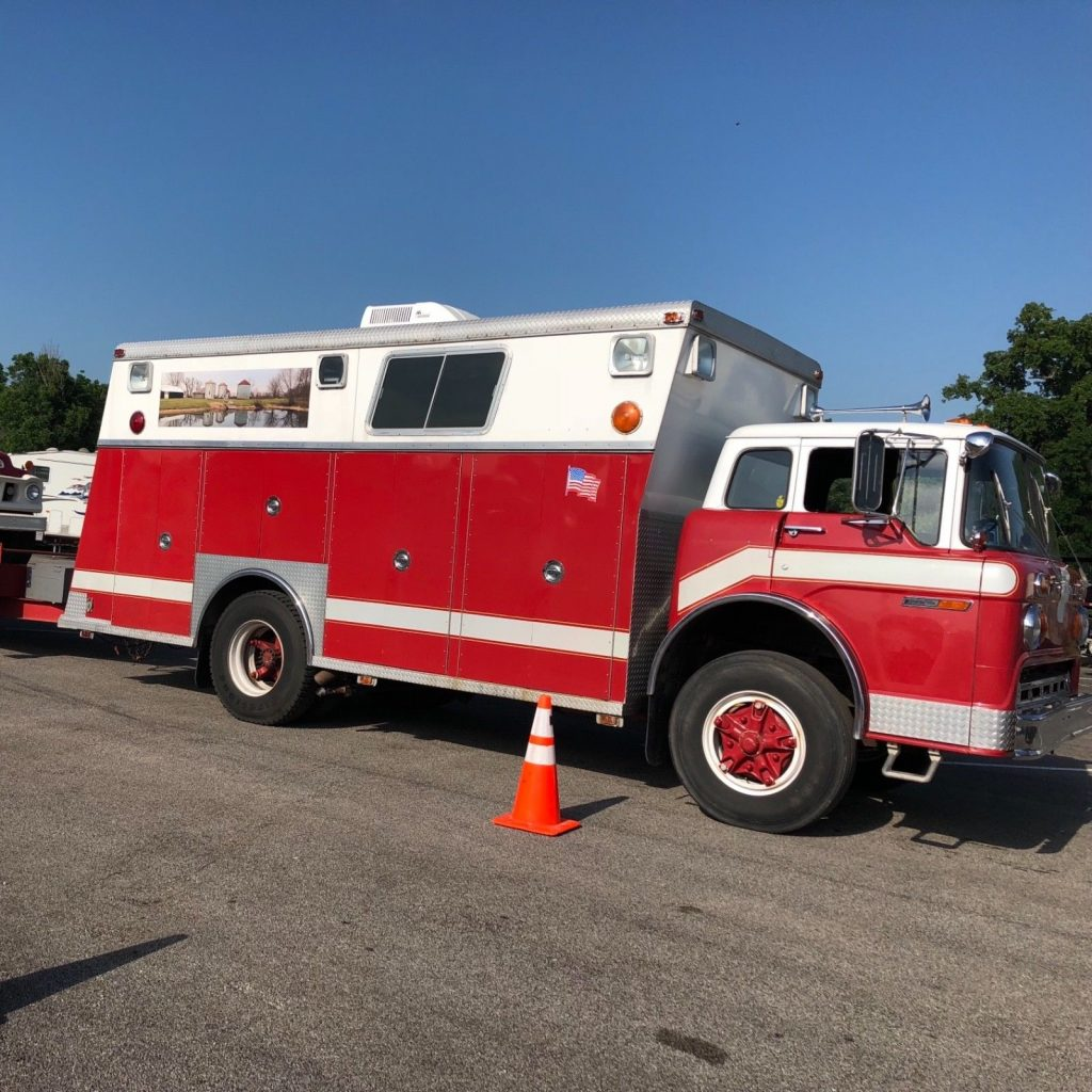 converted 1976 Ford C800 fire truck vintage