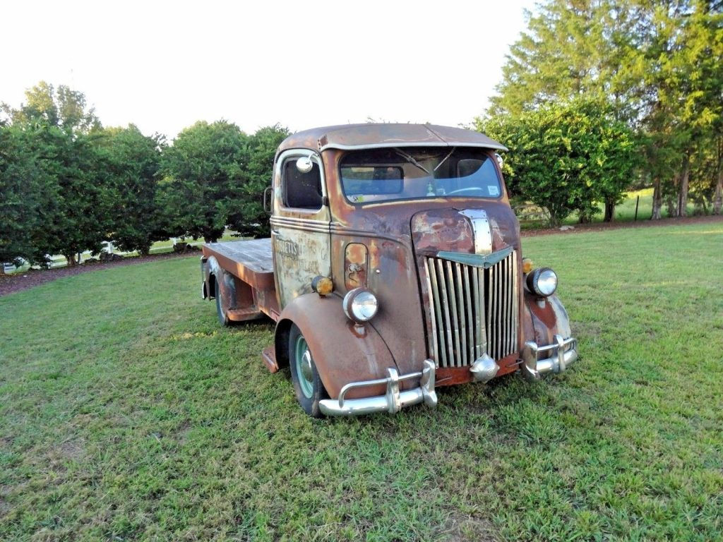 Custom 1941 Ford Cabover Vintage Truck For Sale Front Fenders