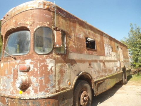 last year 1958 Fageol Twin Coach Highway Postal truck for sale