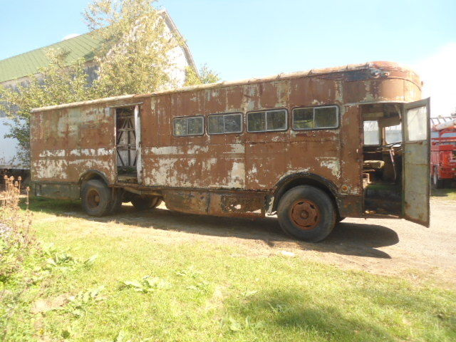 last year 1958 Fageol Twin Coach Highway Postal truck