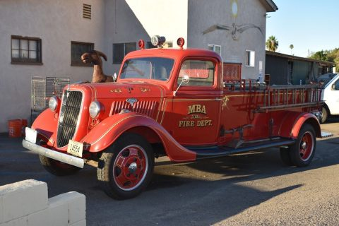 very nice 1935 Ford Fire truck vintage truck for sale