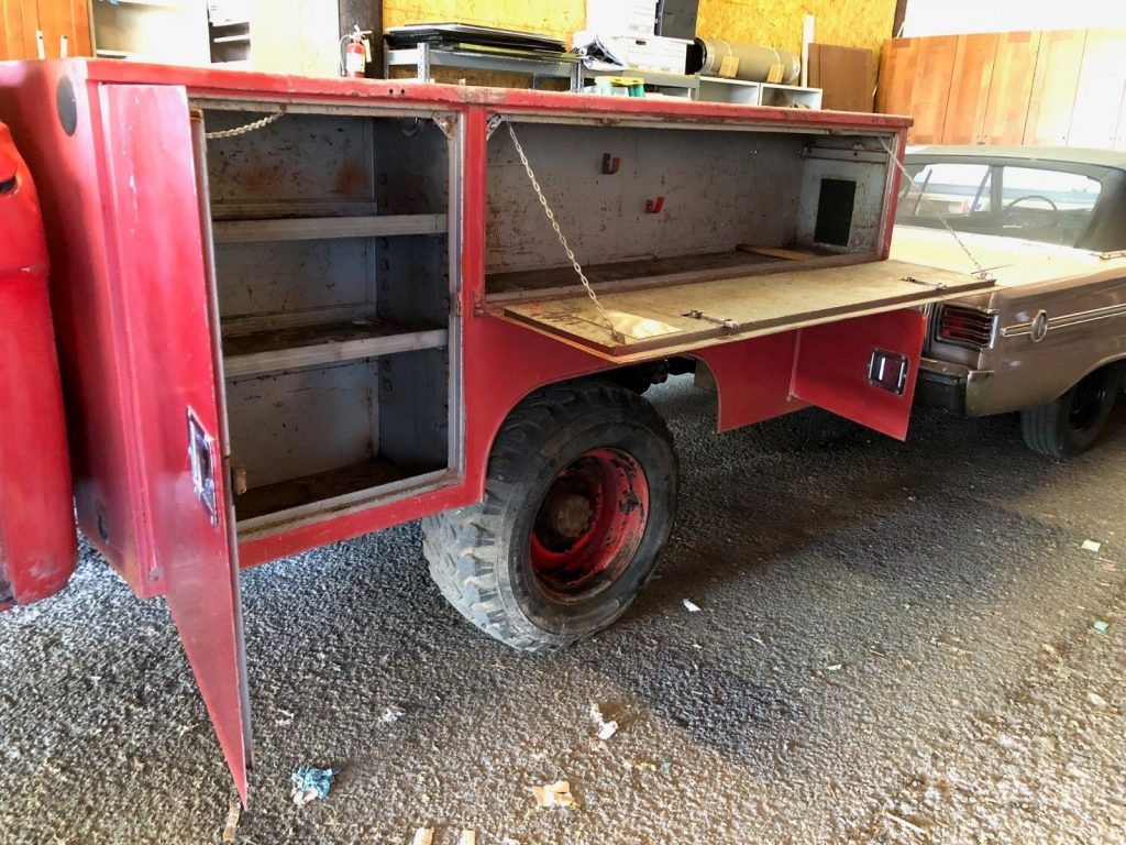 very rare 1961 Ford F250 4X4 fire truck vintage