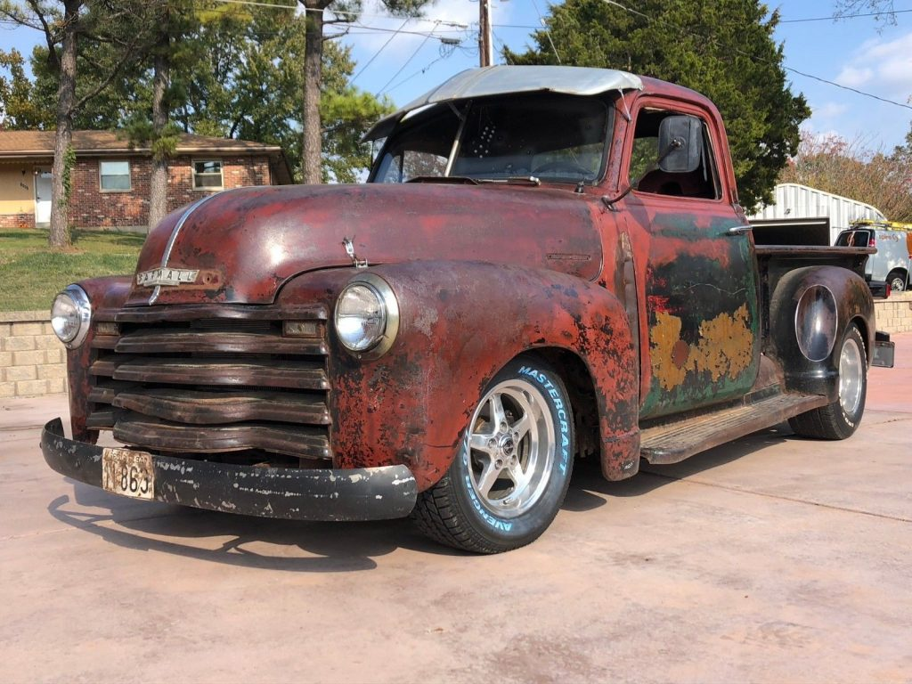 nice patina 1947 Chevrolet Pickup 3 Window Short Bed vintage