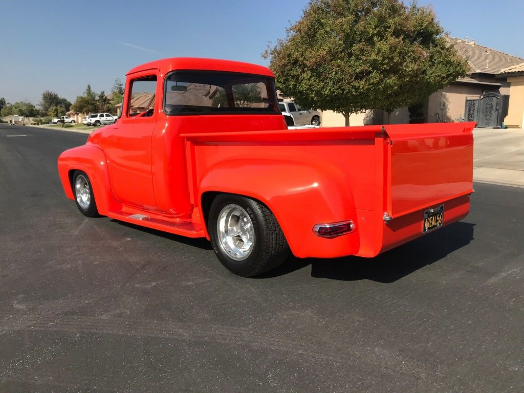 nicely modified 1956 Ford F 100 Custom vintage truck