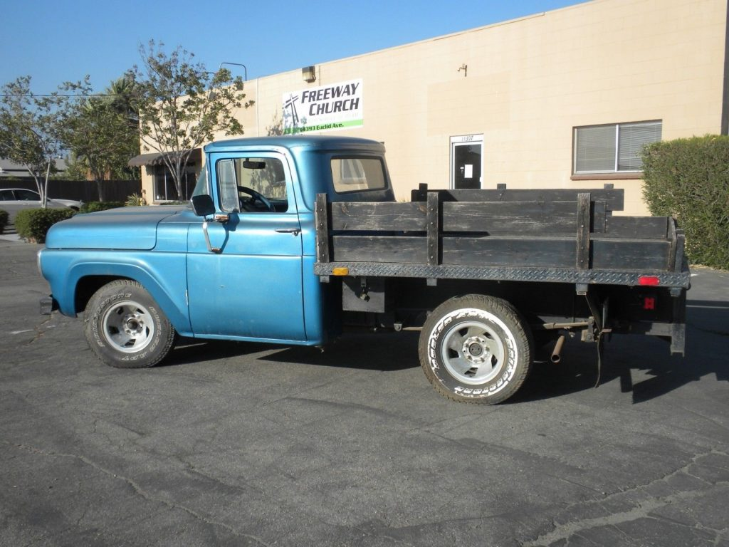 older restoration 1960 Ford F 100 pickup vintage