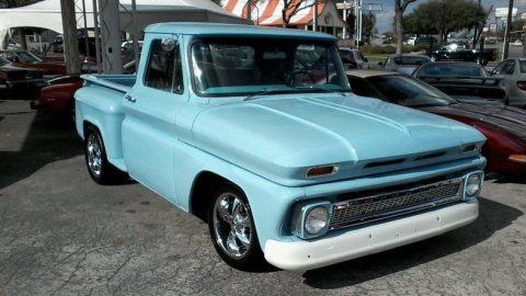 rebuilt chassis 1966 Chevrolet C 10 vintage pickup for sale